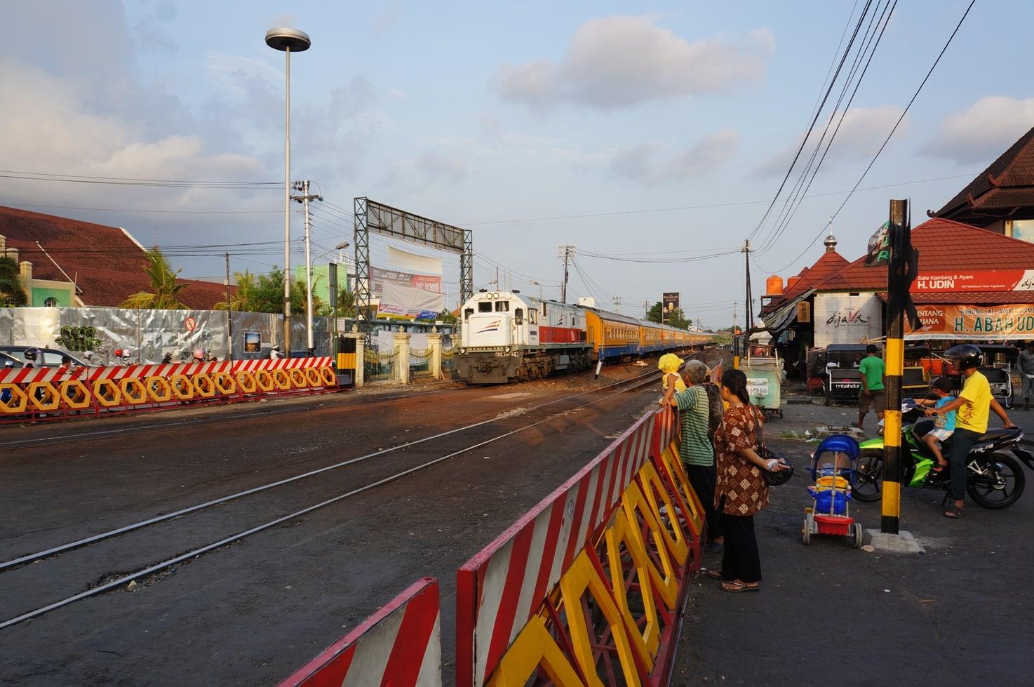 město Yogjakarta na ostrově Jáva