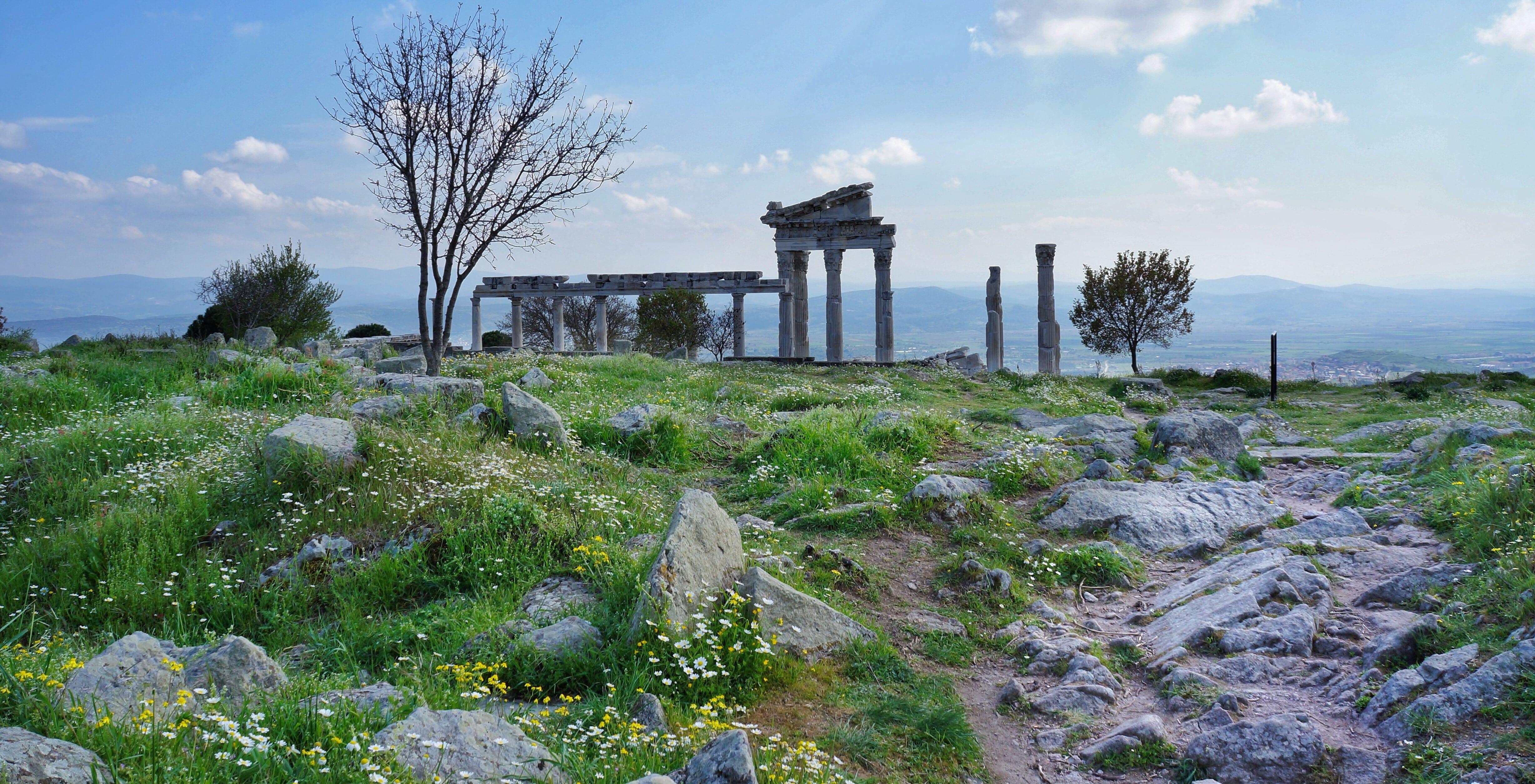 rozvaliny chrámu v Pergamu