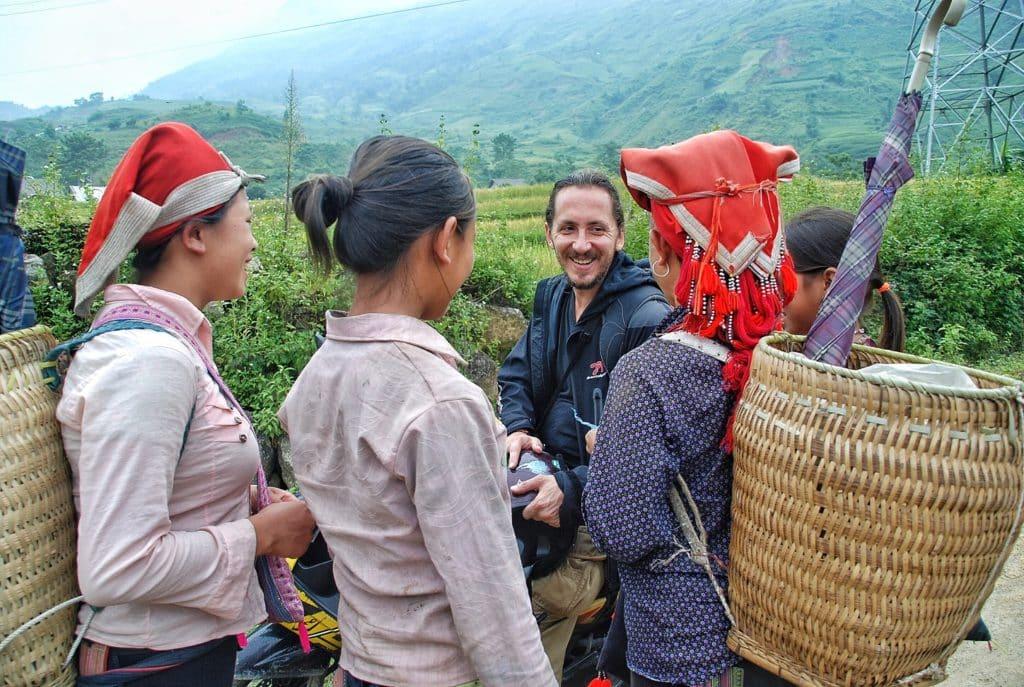 horské kmeny rudý Hmongů poblíž města Sapa v severní části Vietnamu