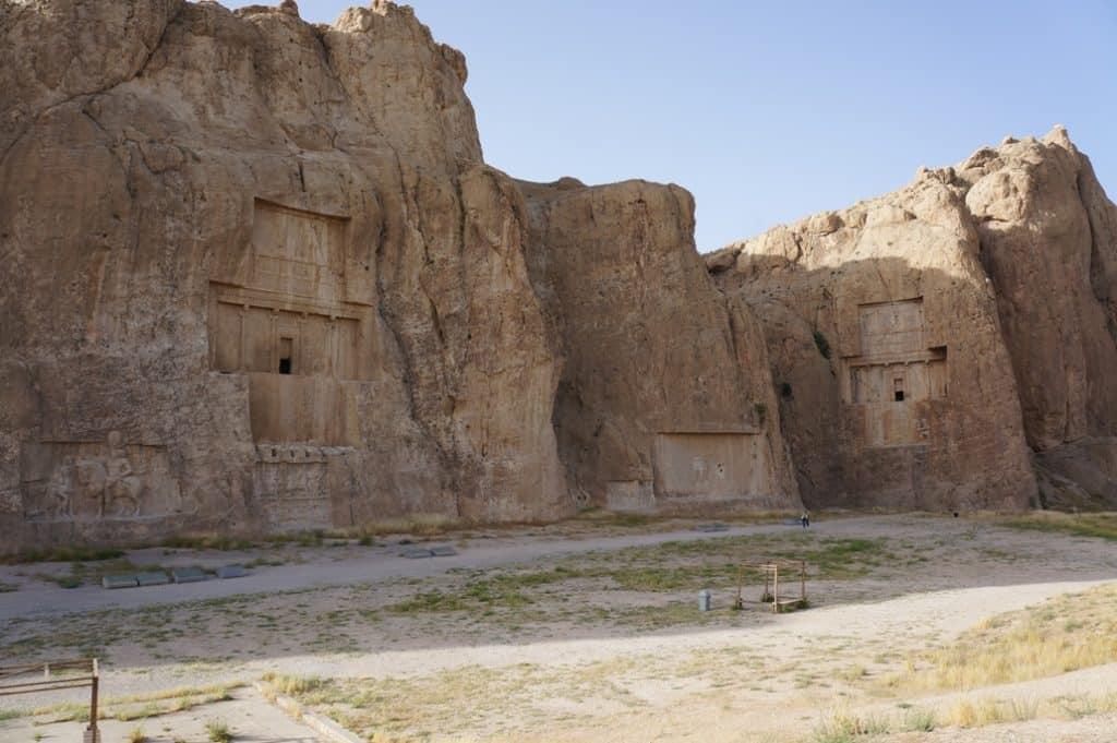 hrobky Daria Prvního, Xerxes I. v Naqsh--e--Rustam-Bishapur-Irán zapsaná na seznamu UNESCO