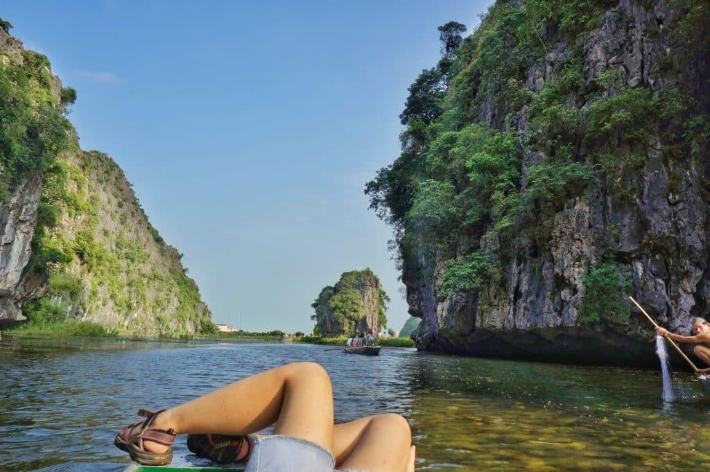 jeskyně Tam Coc v severní části Vietnamu