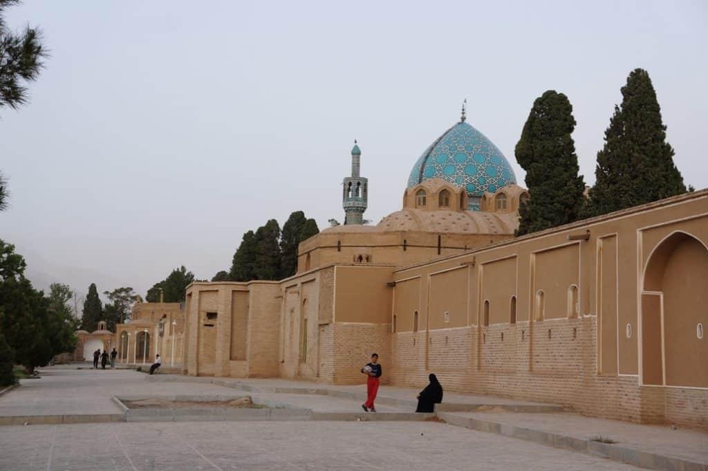 kopule svatině Nematollah Vali ve městě Mahán v Kermán provincii