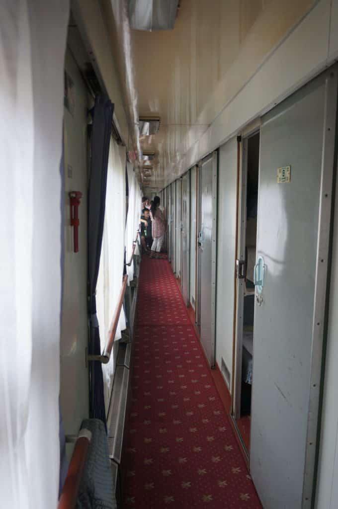 spací vagon, kterým jsem se dostal z Pekingu do města Xi An