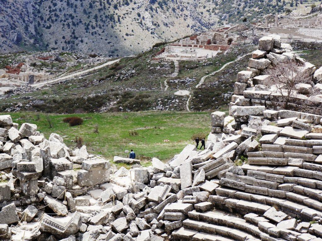 rozvaliny amfiteátru v Sagalassos zapsáno na seznamu UNESCO
