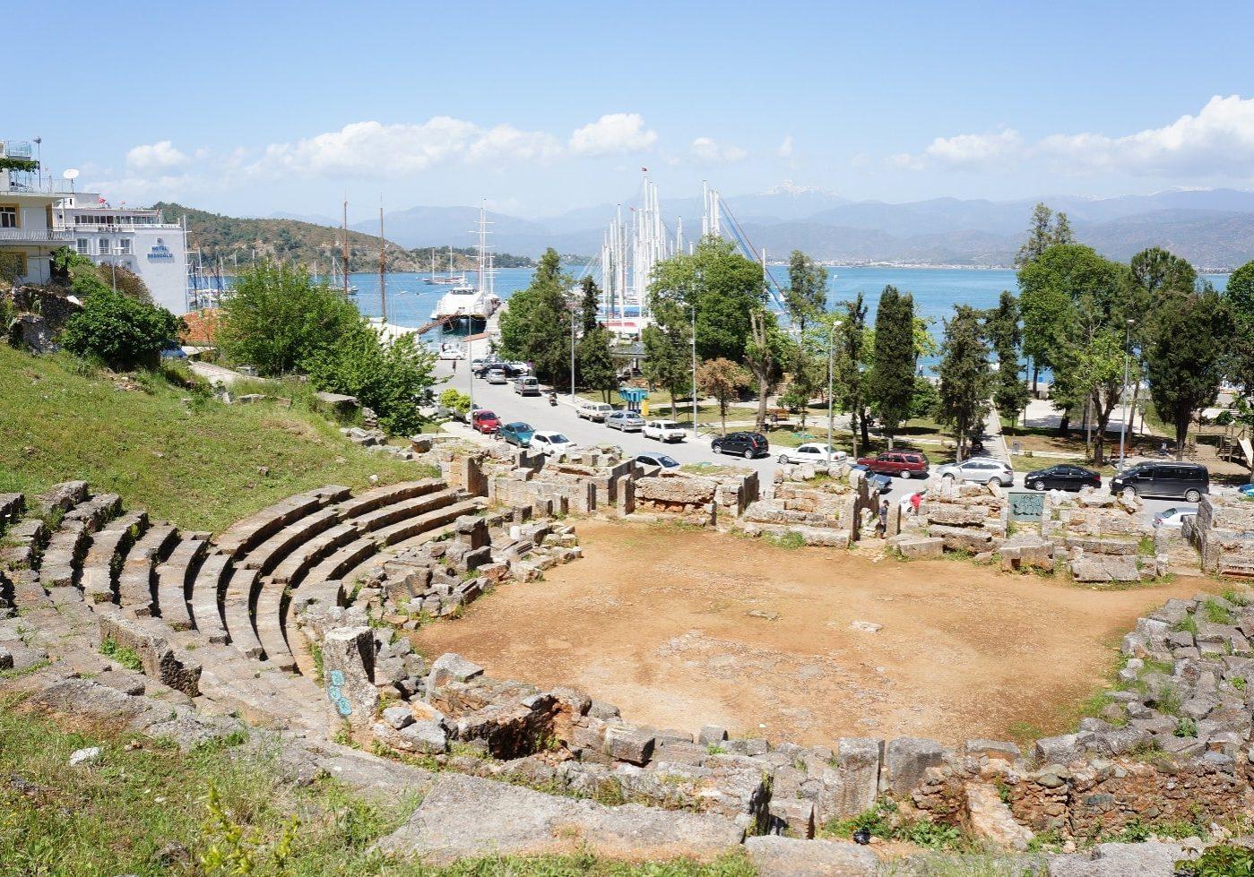Amfiteátr ve městě kemp Aksamlar ve městě Fethiye