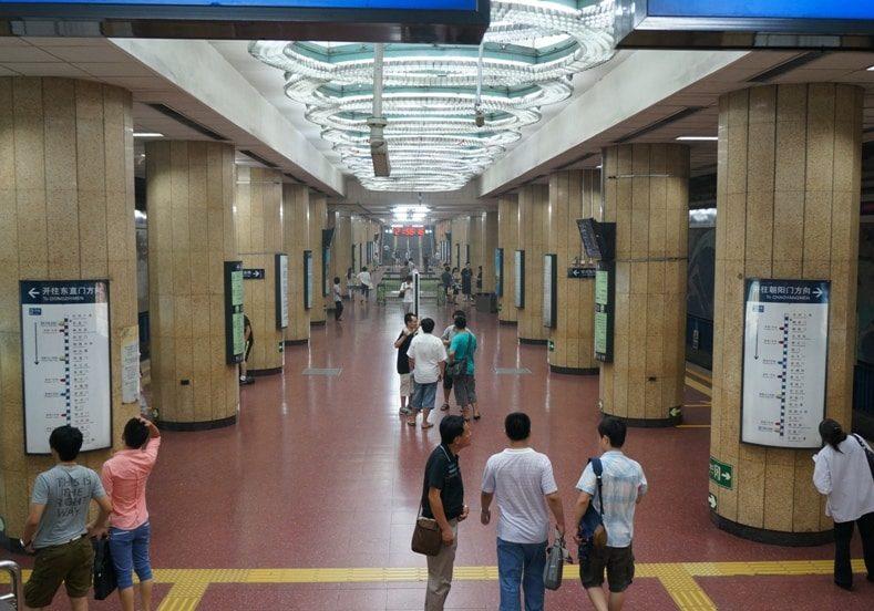 jedna ze stanic metra v Pekingu